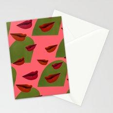 retro lips (2) Stationery Cards