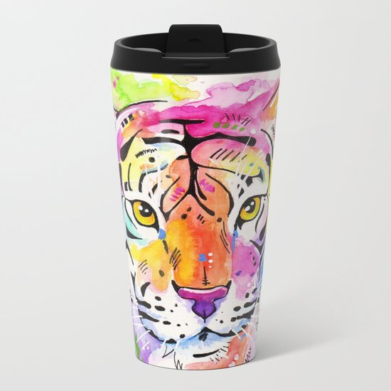 Tiger, tiger Metal Travel Mug