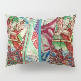 Vintage Hawaiian Quilt Scrap Pillow Sham