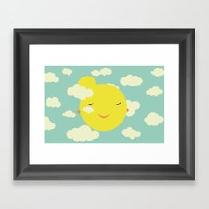 sunshine in clouds Framed Art Print