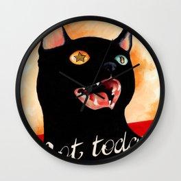 Not Today, Satan! Wall Clock