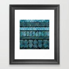 Bodhi Emerald Framed Art Print