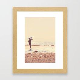 Surfer photograph. A Visceral Need Framed Art Print