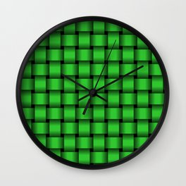 Lime Green Weave Wall Clock