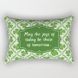 Irish Blessing Shamrocks Pattern Rectangular Pillow