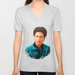 Shah Rukh Khan is a King of Bollywood, Digital Painting Unisex V-Neck
