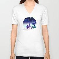 siren V-neck T-shirts featuring Starry Siren by Stevyn Llewellyn