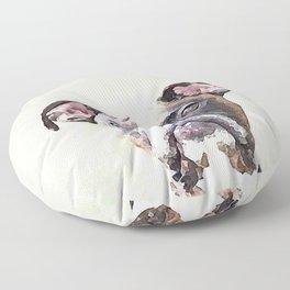 Brindle Boxer Dog Floor Pillow