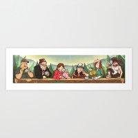 gravity falls Art Prints featuring Gravity Falls Tea Party by rampaigehalsey