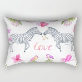 Groovy Kind Of Zebra Love - Bagaceous Rectangular Pillow