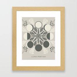 Luna Poetica Framed Art Print