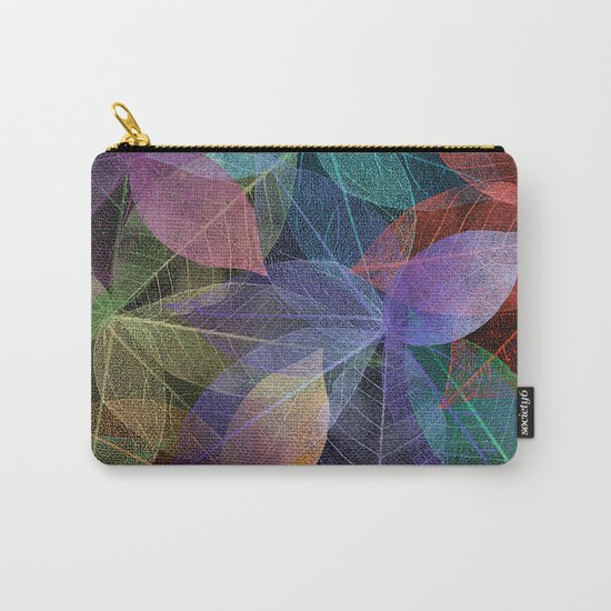 Colored Leaf Pattern 2 Carry-All Pouch