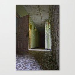 Asylum Empty Hallway Canvas Print