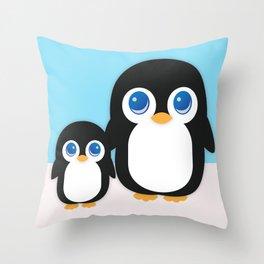Adorable Penguins Throw Pillow