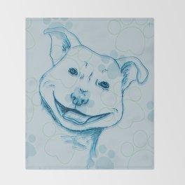 Happy PitBull Throw Blanket