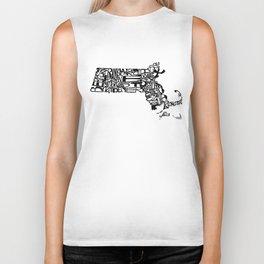 Typographic Massachusetts Biker Tank