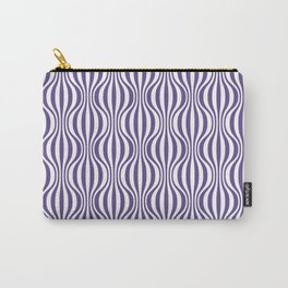 Ultra Violet Wavy Pattern Carry-All Pouch