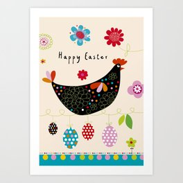 Happy Easter2 Art Print