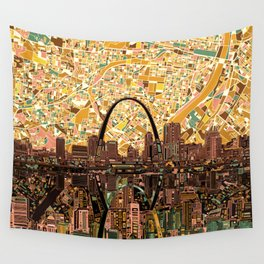 st louis city skyline Wall Tapestry