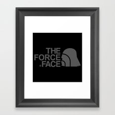 The Force Face (grey) Framed Art Print