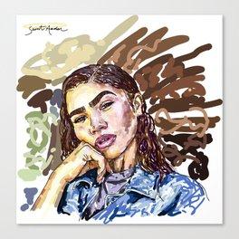 brows, mascara, gloss... Canvas Print