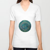 tree rings V-neck T-shirts featuring Annual Rings by Klara Acel