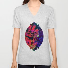 Fluid Abstract 27 Unisex V-Neck