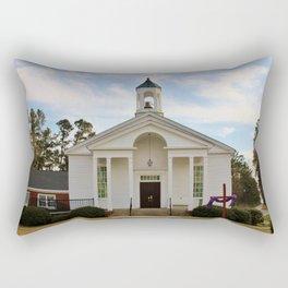 Church At The Lake Rectangular Pillow