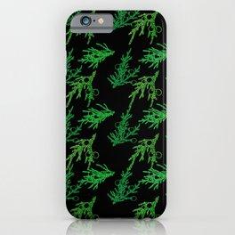 Juniper Sprigs (Black Glow) - Forest iPhone Case