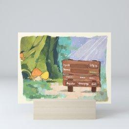 Mushroom login screen Mini Art Print