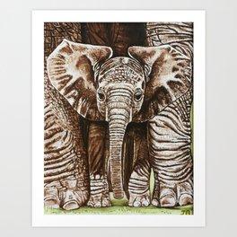 Baby elephant Art Print