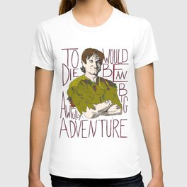 Robin Williams Hook Peter Pan Quote T-shirt