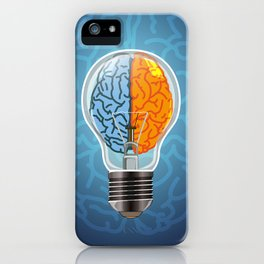 Left and Right Brain, how an idea originated, whether from the left or right brain iPhone Case