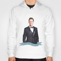 tom hiddleston Hoodies featuring Tom Hiddleston - Flower Crown by River