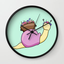 Floral Snail Wall Clock