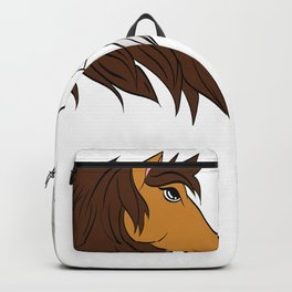 Simple Horsing Tee For Horse Lovers With Illustration Of 2 Horses Making Heart T-shirt Design  Backpack