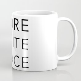 MORE WHITE SPACE Coffee Mug