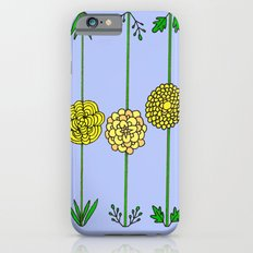 Garden Flowers Illustration - in Yellow iPhone 6s Slim Case