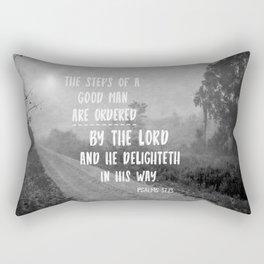 Steps of a Good Man Bible Verse Rectangular Pillow
