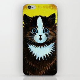 "Louis Wain's Cats ""Psychedelic Rainbow Cat"" iPhone Skin"