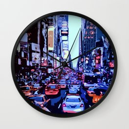 Through the streets of New York City Wall Clock