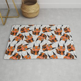 Funny orange monster Rug