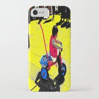 cycling iPhone & iPod Cases featuring Cycling by lookiz