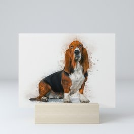 Basset Hound Mini Art Print