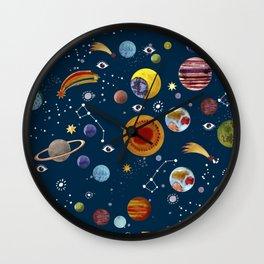 Interplanetary space pattern. Wall Clock