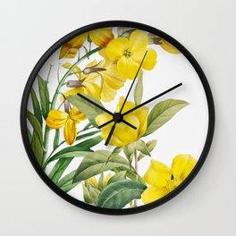Yellow Flowers Wall Clock