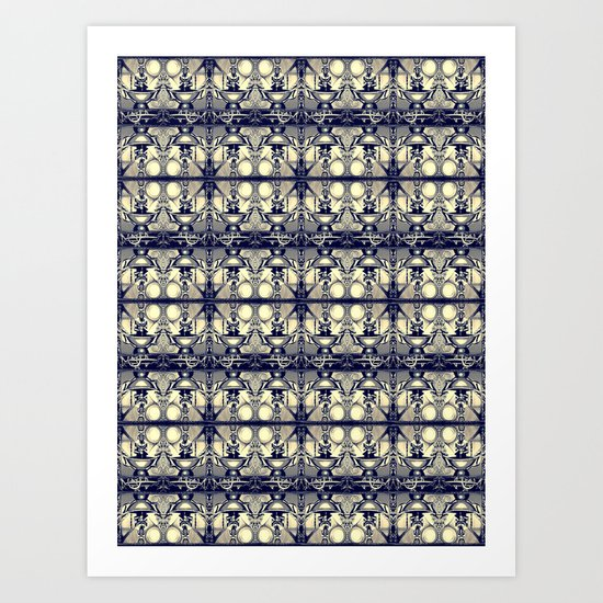 Headhunter pattern Art Print
