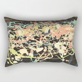 Synthesis, Acrylic and Wood Stain on Wood Rectangular Pillow