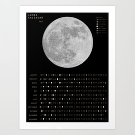2017 Calendar - Lunar Art Print