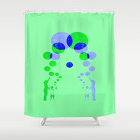 happiness Shower Curtains featuring happiness by  Agostino Lo Coco